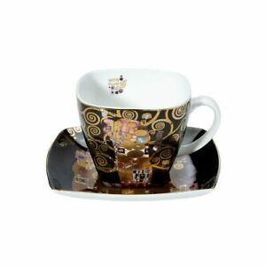 Goebel Klimt the Fulfillment Coffee Cup Black New/Boxed Artis Orbis Cup Gold