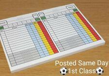 Referee Score Sheet Card (With Sin Bins ) 50 Sheets - score card