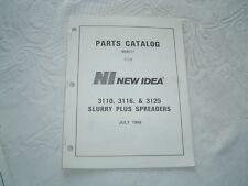 New Idea 3110 3116 3125 manure spreader parts catalog manual