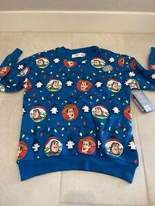NWT Disney Parks TOY STORY Light-up Ugly Christmas Holiday UNISEX Sweatshirt M