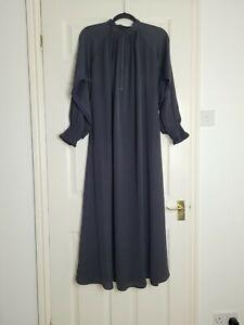 Plain Black Abaya with Elasticated Cuffs XL Length 52