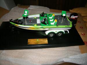 "Operation BASS BP Sponsor Ranger Bass Boat Display Presentation w/ Evinrude 11"""