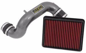 AEM for 11-14 Air Intake System Red Pipe: Gunmetal Gray, Gain 4 HP 22-685C