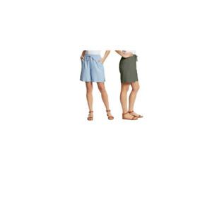 NEW!! Gloria Vanderbilt Women's Linen Blend Drawstring Shorts Variety #534