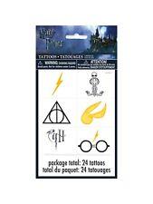 Harry Potter Temporary Tattoos 24 Pack Party Bag Filler BNIP Birthday Loot