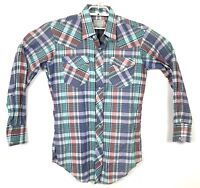 Vtg H Bar C California Ranchwear Mens 15-33 Western Plaid Dual Pocket Shirt USA