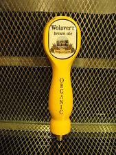 WOLAVERS BREWING Co Vermont ~ Certified Organic Brown Ale ~ Beer Tap Handle