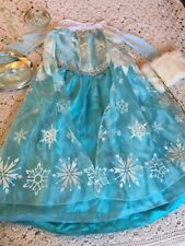 Disney Store Elsa Frozen Dress Girls Size 9 10 Crown Wand Muff Jewelry Purse