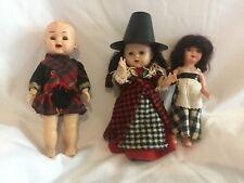 kader doll 7.5 inch, sarold hard plastic 7 inchh and rosebud 6.5 inch