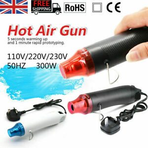 300W Hot Air Gun Mini Heat Gun Shrink Wrap DIY Embossing Drying Paint Crafts UK