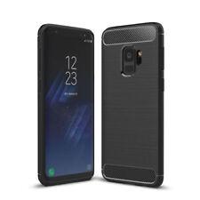 Samsung Galaxy S7 Carbon Silikon Handyhülle Cover Case Bumper Panzer Folie