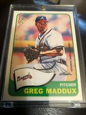 2001 Topps Gallery Heritage Game Jersey Braves Baseball Card #GHRGM Greg Maddux