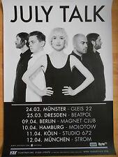 JULY TALK 2015 TOUR  -  orig.Concert-Konzert-Tour-Poster-Plakat