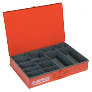 DURHAM MFG 119-17-S1158 Drawer,4 to 13 Compartments,Red