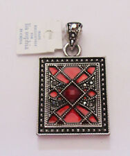Lia Sophia Jewelry Lattice Red enamel Slide RV$42