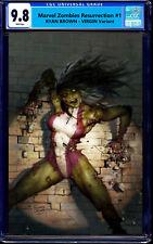 MARVEL ZOMBIES RESURRECTION 1 CGC 9.8 RYAN BROWN SHE-HULK VIRGIN VARIANT 1000 PT