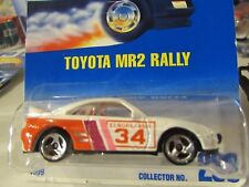 Hot Wheels Toyota MR2 Rally #233 White from 1991 3sp