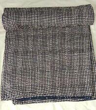Cotton Hand Block Print Kantha Quilt Indian Handmade Bohemian Queen Size Gudari