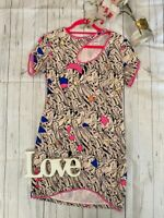 Olivia Rubin 10 silk patterned key hole cut out summer party going out dress VGC