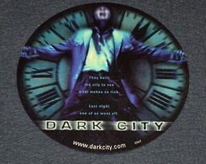 "Alex Proyas' DARK CITY 1998 ORIGINAL NM 7.5"" DIAMETER FOAM MOUSEPAD! SCI-FI EPIC"