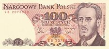 POLAND--P 143c--100 Zlotych--Uncirculated--LOT OF 3--FREE SHIPPING