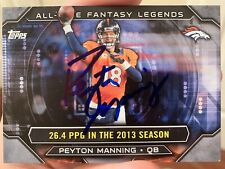 2015 Peyton Manning Autograph Topps Card
