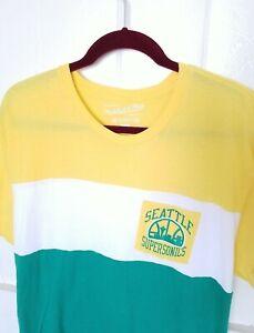 Mitchell Ness SEATTLE SUPERSONICS Mens S/S Pocket T-Shirt Color Block