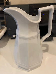 Large Antique T & R Boote Classic Gothic Shape Pitcher Ironstone  C1845-1850