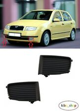 SKODA FABIA 1999 - 2004.07 NEW FRONT BUMPER LOWER FOG GRILL COVER LEFT + RIGHT