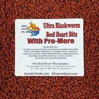 PRO-MORE Enhanced Blackworm / Beef Heart Mix Bits for Discus, Cichlids
