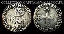 Quart d'Ecu Henri III. 1582-(9 Rennes).