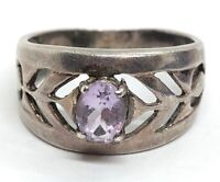Details about  /Signed NF 925 THAILAND STERLING SILVER Lavender CHALCEDONY RING SIZE 5.75