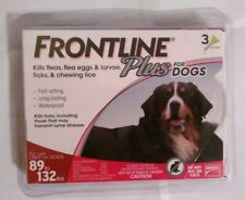 Frontline Plus for Dogs 89 - 132 lbs - red 3 MONTH / 3 DOSES New In Box