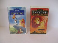 RARE - The Lion King & The Lion King 2 Simba's Pride VHS Both In Good Condition
