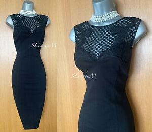 KAREN MILLEN UK 12 Black Baroque Embroidery Sleeveless Cocktail Prom Shift DRESS