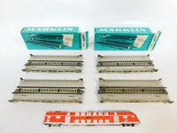 CD814-0,5# 4x Märklin H0 7168 Blech-Rampenstück (M-Gleis) für Brücke, NEUW+OVP
