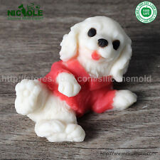 3D Cute Dog Resin Clay Crafts Molds DIY Jelly pudding Moulds Silicone Soap Molds