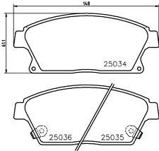 Mintex Plaquettes Frein Avant MDB3089-Brand new-genuine-Garantie 5 an
