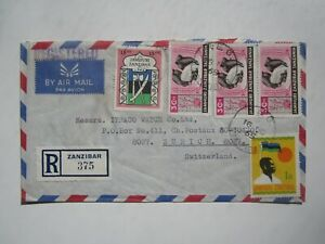1965 REGISTERED ZANZIBAR COVER to SWITZERLAND
