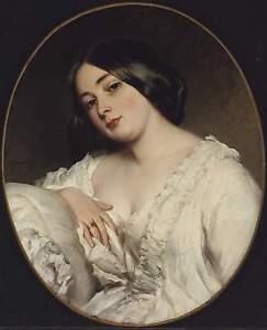 Franz Xaver Winterhalter Portrait of a Lady Canvas Print