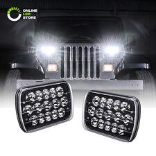 Black H5054 H6054 7x6 5x7 LED Headlights for Jeep Wrangler YJ Cherokee XJ D21