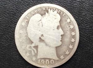 1900-P Barber Quarter Silver U.S. Coin A2372