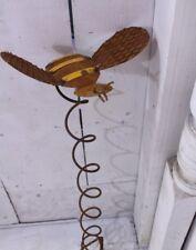 Metal Bumblebee Spiral Garden Stake