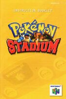Pokemon Stadium - Authentic Nintendo 64 (N64) Manual