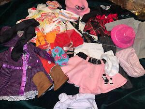 """18"""" Doll Clothes Poodle Skirt boots OG Battat Nice"""