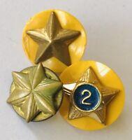 Girl Scout Brownie Membership Service Stars Pin Badge Rare Vintage (N6)