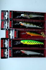 Lot of 5 Authentic RAPALA Minnow Rap MR Lures Assorted
