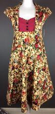 Bnwt Lindy Bop Floral Print Swing Rockabilly 50s Vintage Style Dress Uk 14