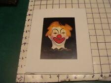 1980's print - Clown Art - Clown Happy