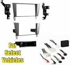 Stereo Radio Install Mount Dash Trim Car Face Kit Combo for 02-10 Lexus SC430